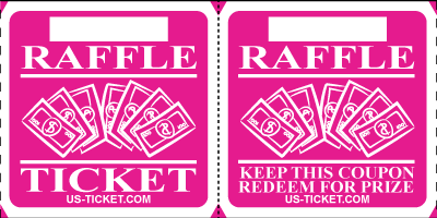 Premium Large Double Raffle Ticket