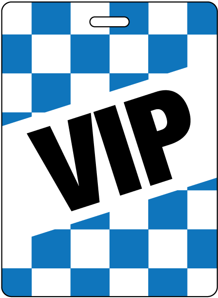 Checkerboard Event Badges