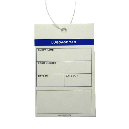 1 Part Luggage Tag With String