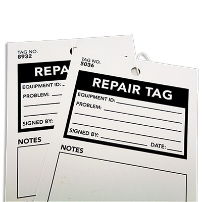2 Part Equipment Repair Tag 3
