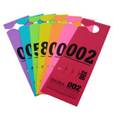 3 Part Hanging Valet Ticket - Colored Stock