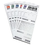4 Part Barcoded Valet Ticket