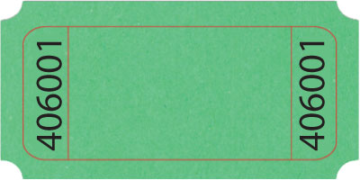 Marvelous ... Green Blank 1x2 Roll Ticket ... To Blank Ticket