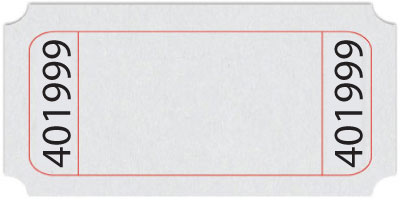 Standard Blank Roll Ticket – Blank Ticket