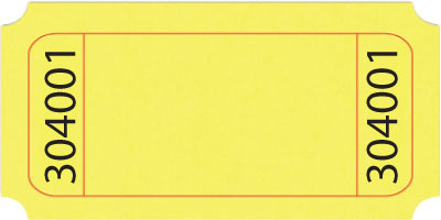 Standard Blank Roll Ticket on Yellow Art