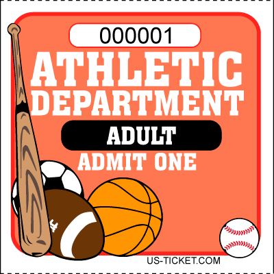 Athletic-Admit-One-Roll-Ticket-Student-Red