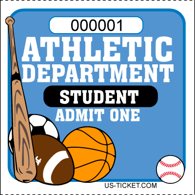 Athletic-Admit-One-Roll-Ticket-Student-Blue