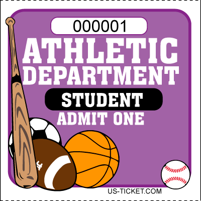 Athletic-Admit-One-Roll-Ticket-Student-Purple