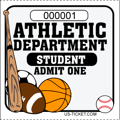 Athletic-Admit-One-Roll-Ticket-Student-White