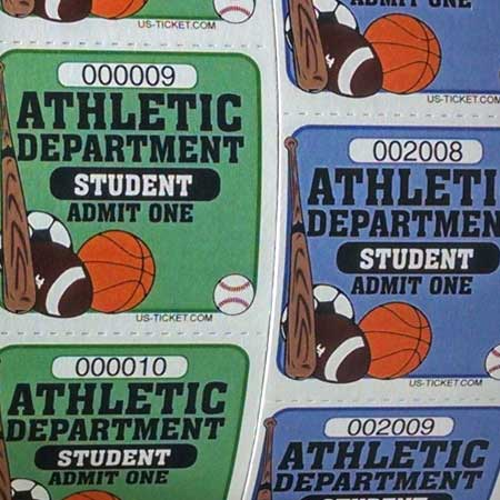 Athletic-Admit-One-Roll-Ticket-Student