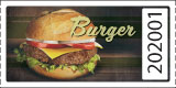 Graphic Style Burger Tickets