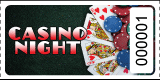 Casino Night Poker Roll Tickets
