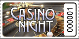 Casino Night Roulette Roll Tickets