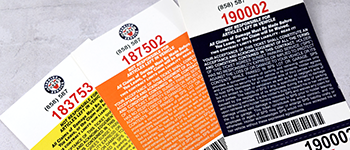 Custom Valet Ticket Color Printing and Paper Stock