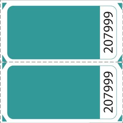 Premium Blank Double Roll Raffle Tickets – Blank Ticket