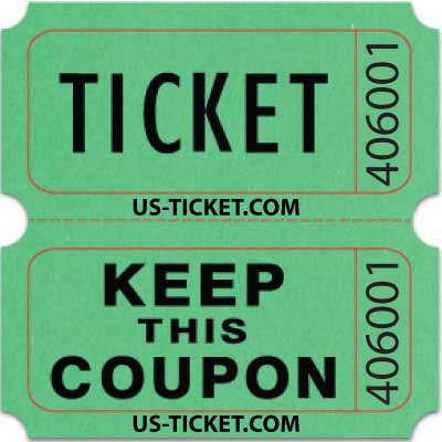 Standard Double Roll Raffle Tickets | Us-Ticket.Com