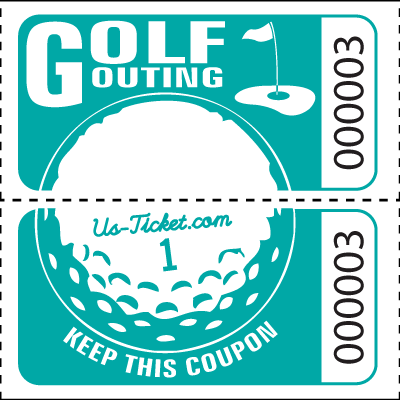 Golf Outing Roll Tickets Aqua