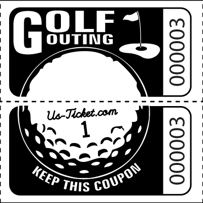 Golf Outing Roll Tickets Black