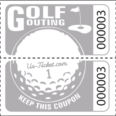 Golf Outing Roll Tickets Gray