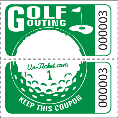 Golf Outing Raffle Tickets on a roll