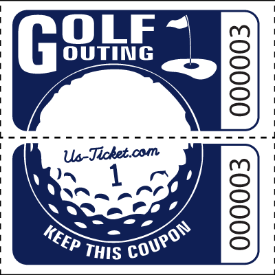 Golf Outing Roll Tickets Navy