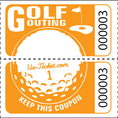 Golf Outing Roll Tickets Orange