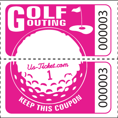 Golf Outing Roll Tickets Pink