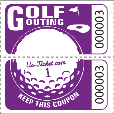 Golf Outing Roll Tickets Purple