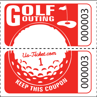 Golf Outing Roll Tickets Red