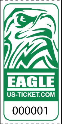Eagle Head Roll Tickets Green