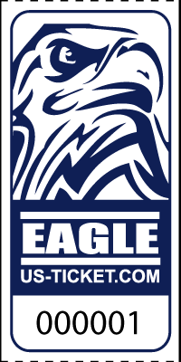 Eagle Head Roll Tickets Navy