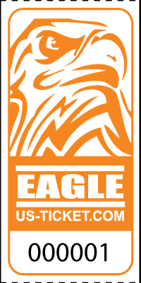 Eagle Head Roll Tickets Orange