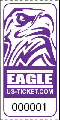 Eagle Head Roll Tickets Purple