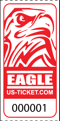 Eagle Head Roll Tickets Red