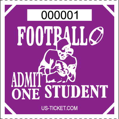 Premium Student Football Roll Ticket Purple