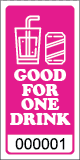 Premium Good for One Drink Ticket Magenta