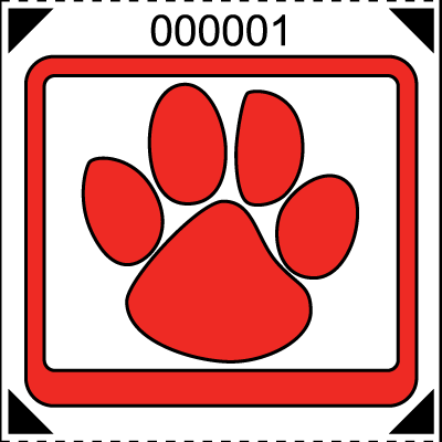 BIG Paw Print Roll Ticket