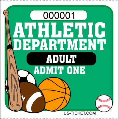 Athletic-Adult-Admit-One-Roll-Ticket-Green
