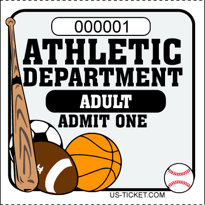 Athletic-Adult-Admit-One-Roll-Ticket-White