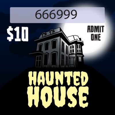 HAUNTED HOUSE with $10 Denomination