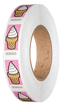 Premium Ice Cream Roll Tickets On Roll Pink