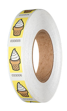 Premium Ice Cream Roll Tickets On Roll Yellow