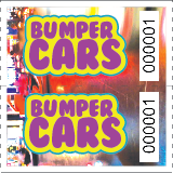 Bumper Car Double Roll Tickets