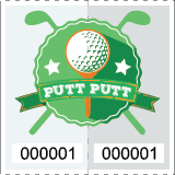 Premium Putt Putt Golf Roll Tickets