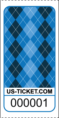Premium Argyle Pattern Roll Tickets