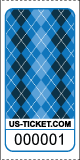 Argyle Pattern Roll Ticket Blue