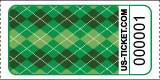 Argyle Pattern Roll Ticket Green