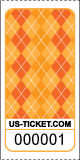Argyle Pattern Roll Ticket Orange