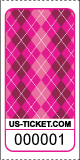 Argyle Pattern Roll Ticket Pink