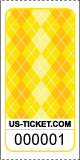 Argyle Pattern Roll Ticket Yellow